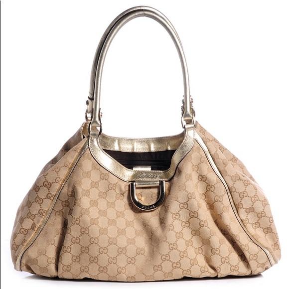 fa0e5d6e114 Gucci Handbags - Gucci Monogram Large (D Ring) Hobo Bag